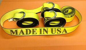 4 14 Lasso Strap Wheel Lift Straps F Rollback Wrecker Tow Truck Tow Dolly Usa