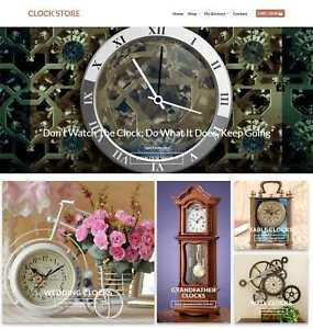 Clock Website Business For Sale Earn 746 A Sale Free Domain hosting traffic