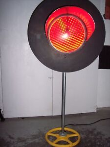 Vintage Authentic Railroad Train Crossing Red Signal Light