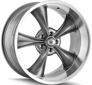 Staggered Ridler 695 Front 20x8 5 rear 20x10 5x127 5x5 0mm Grey Wheels Rims