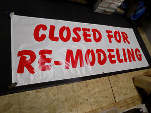 3x8 Ft Grand Re opening Closed For Re modeling Vinyl Banner Sign Double Sided