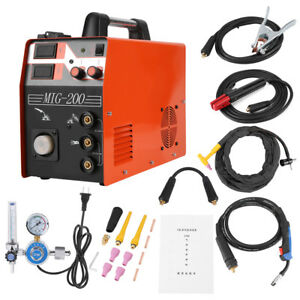 3 in 1 220v Digital Display Welding Machine Mig tig arc Welder Accessories Kit