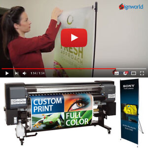 X Banner Stand Tripod Trade Show Display 24 x63 Full Color Custom Vinyl Print
