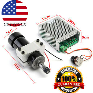Er11 Chuck Cnc 500w Spindle Motor 52mm Clamps Speed Governor For Diy Cnc Usa
