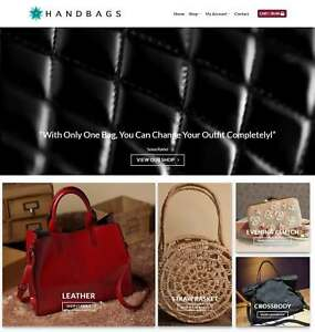 Handbags Website Business For Sale earn 720 A Sale Free Domain hosting traffic