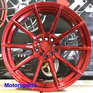 Xxr 567 Wheels 18x9 5 20 Red Rims 5x114 3 Fits 03 04 06 07 08 Nissan 350z Nismo