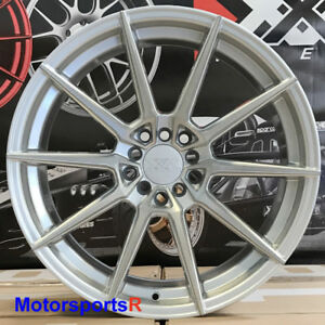 Xxr 567 Wheels 18x8 5 20 Silver Brushed Face Rims 5x114 3 Mitsubishi Evolution X