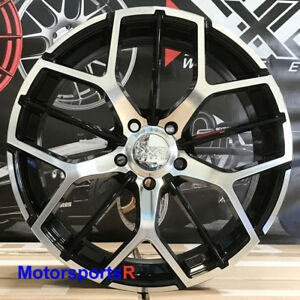 Xxr 566 Wheels 18x8 5 35 Black Machine Face Rims 5x114 3 17 18 Toyota Camry Le