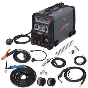 Mts 205 Amp Mig Flux Cored Tig Stick Arc Dc Welder 3 in 1 Combo Welding New