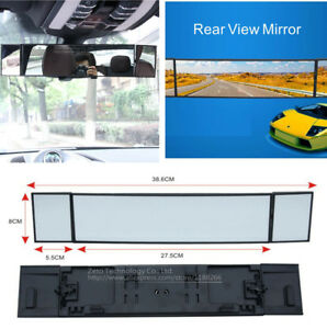 Car Rear View Mirror Wide Angle Panoramic Anti dazzling Interior Curved Mirror