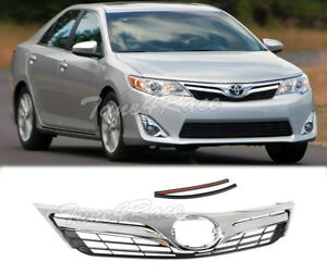 For 2012 2014 Toyota Camry Le Style Front Bumper Black Upper Grille Grill Hood
