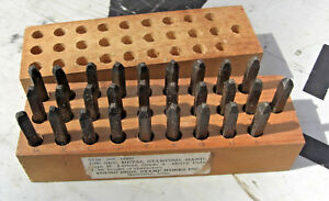 Vintage Young Bros 1 16 Steel Stamp Letter Set 28 Tools W Box 5110 289 005