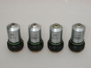 Lot Of 4 Olympus M40x Microscope Objectives
