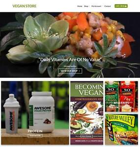 Vegan Website Business For Sale Earn 410 A Sale Free Domain hosting traffic