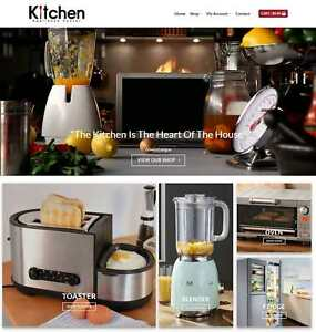 Kitchen Appliances Website Business Earn 829 A Sale Domain hosting traffic