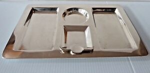 Tiffany Co Large Sterling Silver Rectangular Smoking Tray W 2 Square Ashtrays