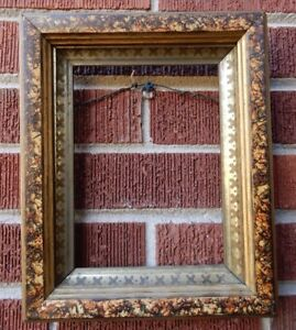 Antique Victorian Eastlake Small Faux Finish Picture Frame 6 X 8 In Fit C1870s