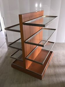 Wood Laminate Glass Display Shelf Table Retail Store Fixture
