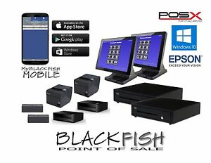 Top Quality 2 Station Blackfish Bar Restaurant Pos System Touch Windows10