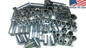 Ratchet Sockets Armstrong Craftsman Proto Husky Wright Granco Huge Lot Usa