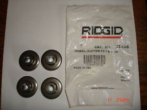 Pack Of 4 Ridgid 33105 F3 Pipe Cutter Wheel For Cutters 1a 2a 42a 202 360 New