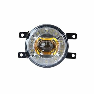 2x15w 3 55 Amber Led Fog Lights Lens With Drl And Bracket Fit Land Cruiser Jeep