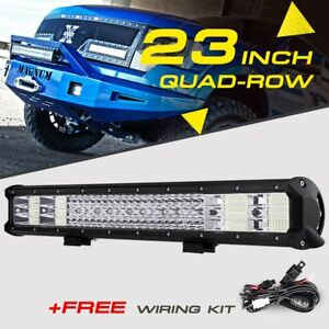 23 2256w Quad Row Cree Led Work Light Bar Offroad Pickup 4wd For Ford Chevy Ram