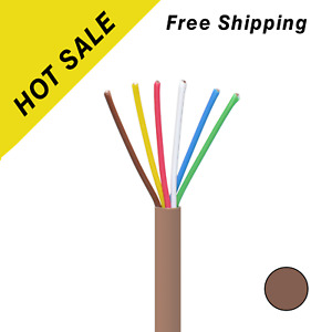 500ft Thermostat Cable Heating Hvac Ac 18 6 Solid Copper 18awg Cmr