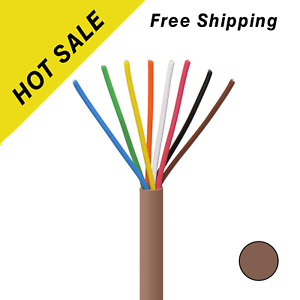 Thermostat Cable 18 8 Solid Copper 18awg Cmr Heating Hvac Ac 250ft