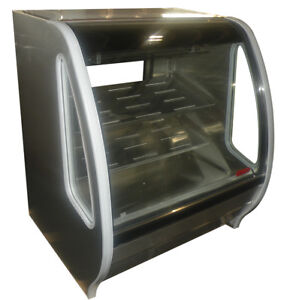 Stainless Steel Curved Glass Deli Bakery Display Case Refrigerated Led Tor Rey
