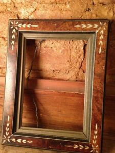 Antique Aesthetic Eastlake Victorian Walnut Picture Frame 7 X5 Image