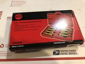 Brand New Mac Tools 8 Pc Precision Nut Driver Set Sndm8lb