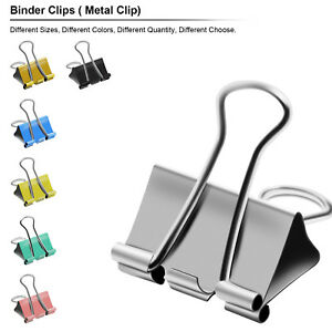 Binder Clips Of 3 4 5 4 2 In Colored Paper Clamp Assorted Sizes Assortment