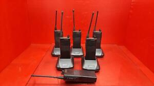 Kenwood Uhf Fm Transceivers Tk 353 Lot Of 6 With Chargers