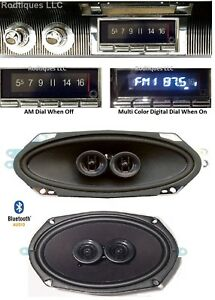 1965 66 Convert Cadillac Bluetooth Stereo Radio Am fm Front Rear Speakers 740