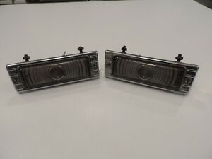 Vintage 1947 1953 Chevrolet Truck Park Light Turn Signal Original Gm Pair