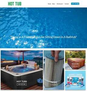 Hot Tubs Website Business For Sale Earn 999 A Sale Domain hosting traffic