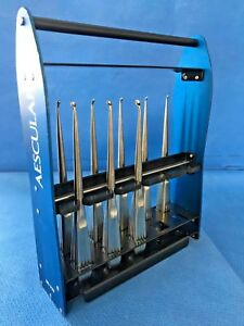 Set Of 8 Aesculap Bruns Reverse Angle Curettes 00000 3 W Md929 Case Spine Neuro