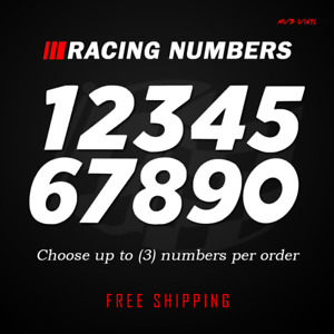 Racing Numbers Vinyl Decal Sticker Dirt Bike Plate Number Bmx Competition 524