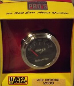 Autometer 2 Inch Electrical Water Temperature Gauge Kit 2533