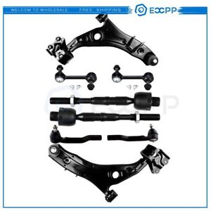8pc Complete Front Suspension Kit Control Arm For Ford Edge And Lincoln Mkx