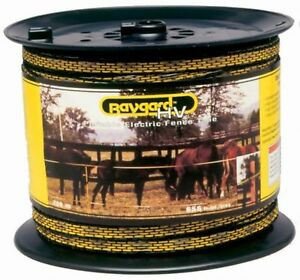 Baygard Electric Fence Yellow black Tape 656 Feet 00129 New