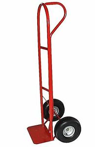 Milwaukee Hand Trucks 49511 Heavy Duty P handle Truck With 10 inch Pneuma New