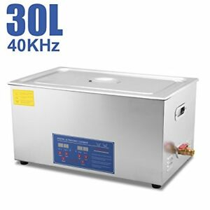 Hfs Commercial Grade Digital Ultrasonic Cleaner Stainless Steel 30l Capacity