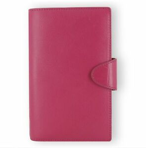Filofax Weekly Daily Planner Calipso Leather Compact Deep Pink Organizer New