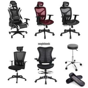 Ergonomic Adjustable Drafting Reception Office Stool chair 6 Types Shipping