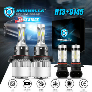 Led Headlight Hi lo Beams fog Lights Combo For 2005 2014 Ford F 150 F 250 F 350