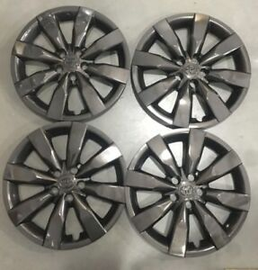 Toyota Corolla Wheel Covers 14 15 2016 16 Midnight Black Hubcaps 61172 1 bp
