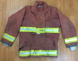 Firefighter Red Bunker Turnout Jacket 48 X 33 Quest