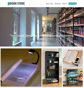 Books Library Website Business Earn 491 A Sale Free Domain hosting traffic